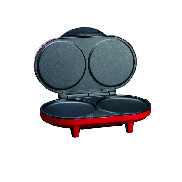 Deni Red 2-piece Pancake Maker