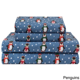 Winter Nights Cotton Flannel Sheet Set (More options available)