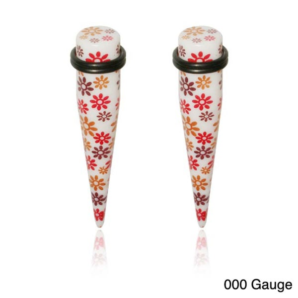 Supreme Body Jewelry Flower Design Tapers