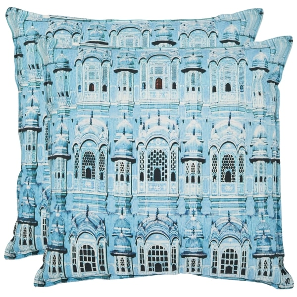 Safavieh Verona 18-inch Turquoise Decorative Pillows (Set of 2)