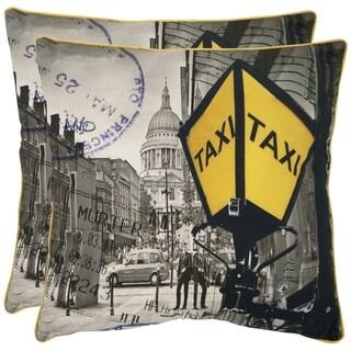Safavieh Belgrade 18-inch White Decorative Pillows (Set of 2)