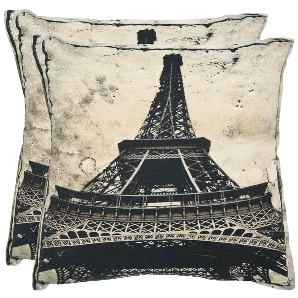 Safavieh Paris 20-inch Antiqued Sandstone Decorative Pillows (Set of 2)