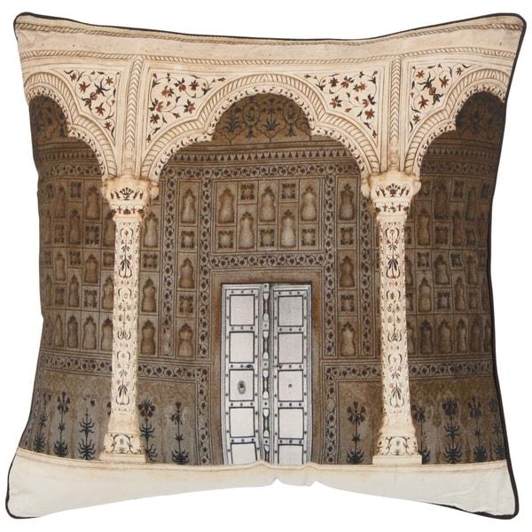 Safavieh Novara 20-inch Rustic Brown Decorative Pillows (Set of 2)
