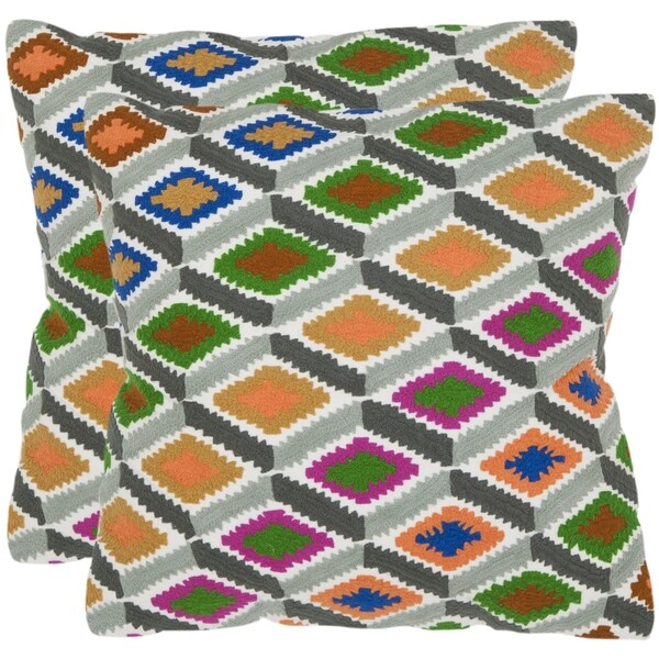 Safavieh Lacey 18-inch Rainbow Decorative Pillows (Set of 2)
