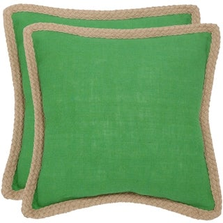 Safavieh Sweet Serona 18-inch Lime Green Decorative Pillows (Set of 2)