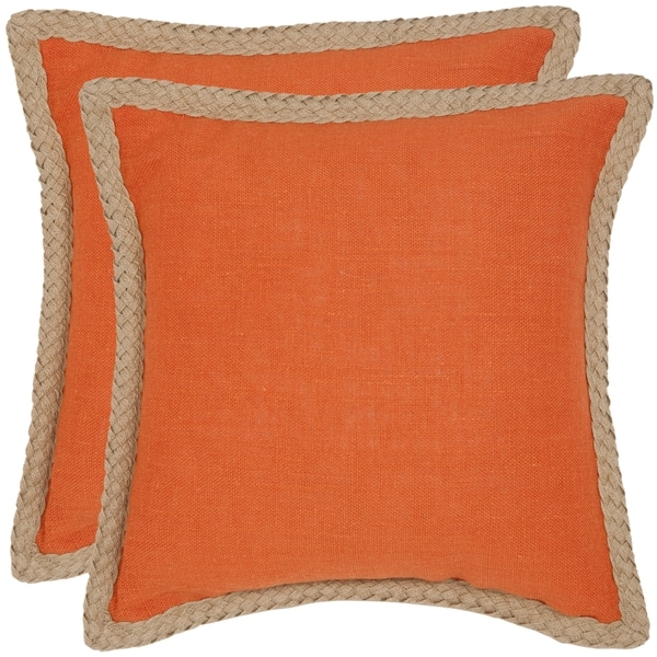 Shop Safavieh Sweet Serona 40inch Orange Decorative Pillows Set Of Awesome Orange Decorative Pillows For Couch