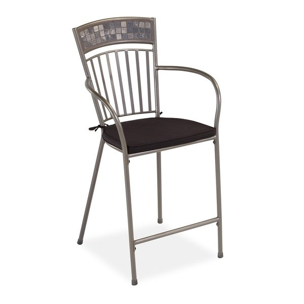 Glen Rock Marble Dining Stool with Cushion by Home Styles