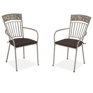 Home Styles Glen Rock Marble Dining Chairs with Cushions