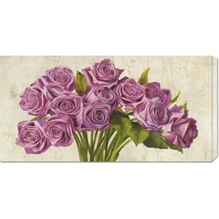 Global Gallery Leonardo Sanna 'Roses' Stretched Canvas Art