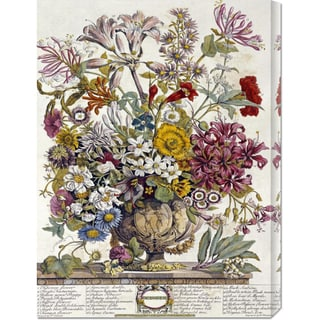 Big Canvas Co. Robert Furber 'October - Twelve Months of Flowers' Stretched Canvas Art