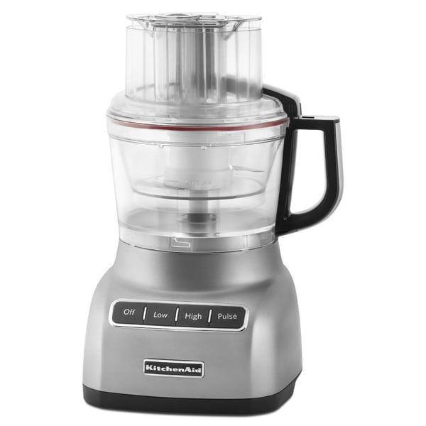 Refurb KitchenAid 9 Cup Food Processor Contour Silver