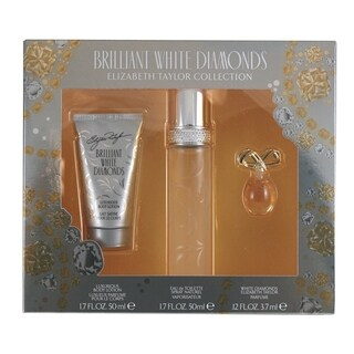 Elizabeth Taylor White Diamonds Brilliant Women's 3-piece Fragrance Set