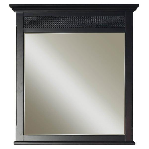 Water Creation London Collection Espresso Finish Hardwood Bathroom Vanity Mirror