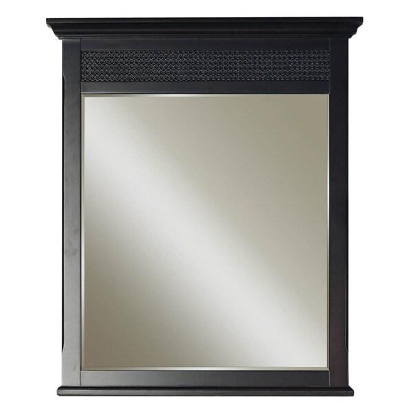 Water Creation London Collection Espresso Finished Hardwood Bathroom Vanity Mirror
