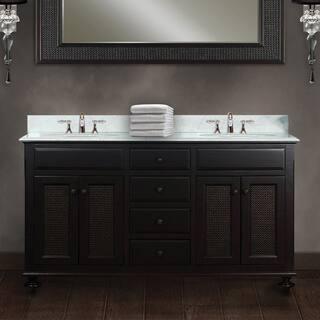 5 foot double sink vanity. Water Creation London 60 inch Dark Espresso Double Sink Bathroom Vanity Vintage Vanities  Cabinets For Less Overstock com