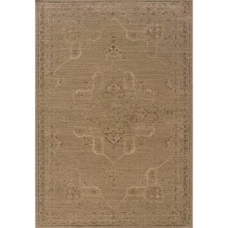 Indoor Tan and Beige Area Rug