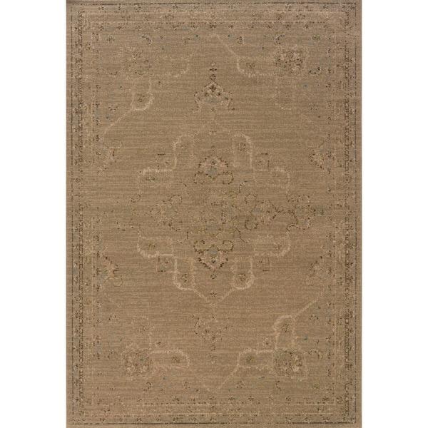 Indoor Tan and Beige Area Rug