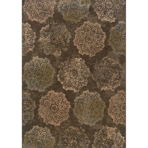 Shop Indoor Brown And Pink Area Rug Free Shipping Today