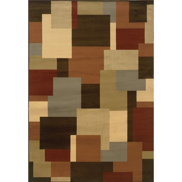 Indoor Brown and Beige Area Rug