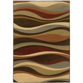 Indoor Brown and Green Area Rug (5 options available)