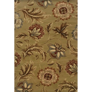 Indoor Tan and Gold Area Rug
