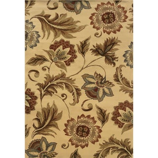 Indoor Beige and Gold Area Rug (5 options available)