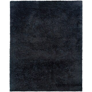 Indoor Black Shag Area Rug