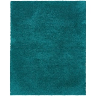 Indoor Teal Shag Area Rug