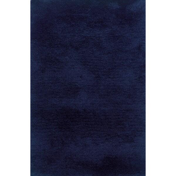 Indoor Blue Shag Area Rug