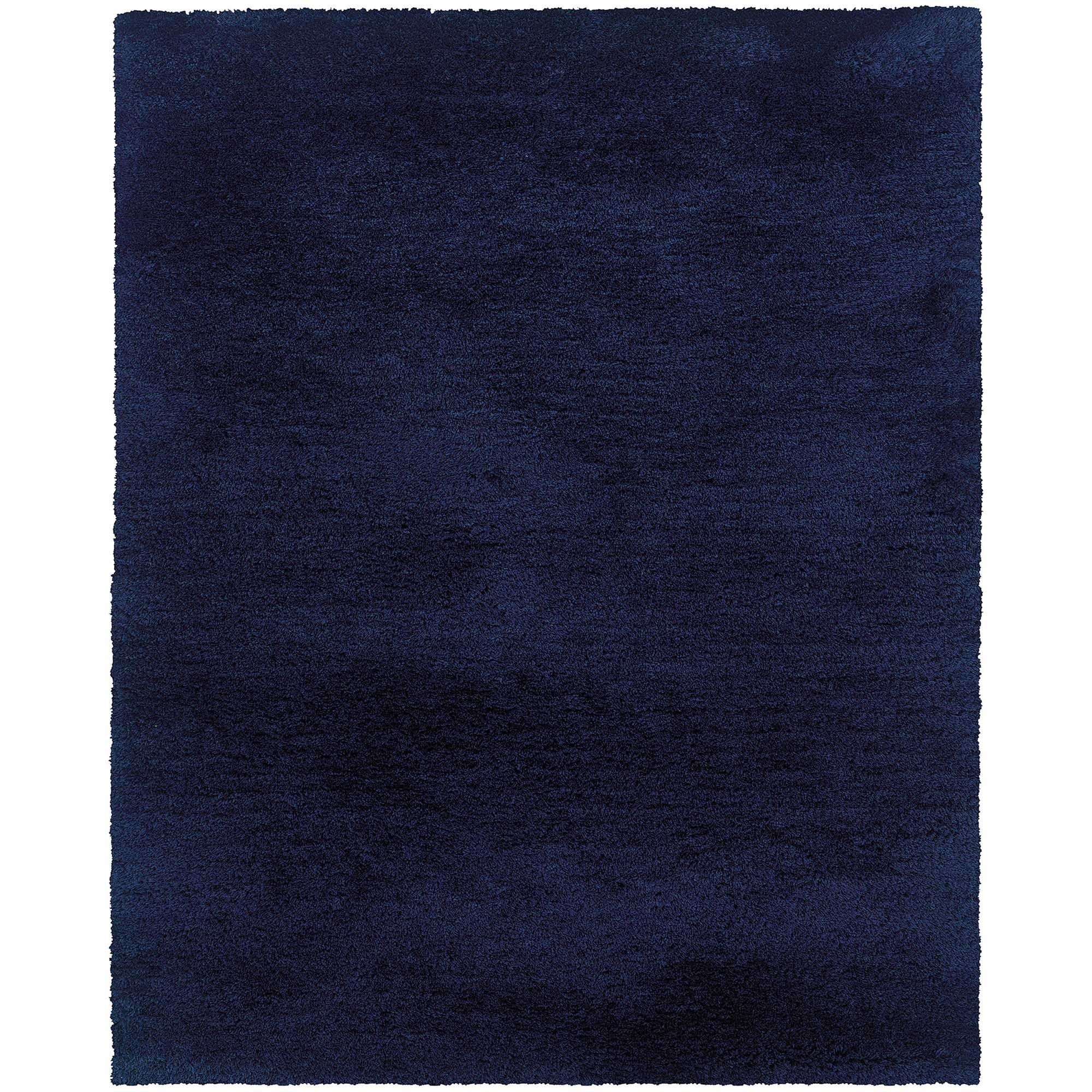 Indoor Blue Shag Area Rug