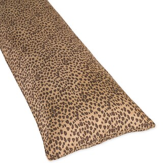 Sweet Jojo Designs Cotton Blend Cheetah Animal Print Full-length Double Zippered Body Pillow Cover