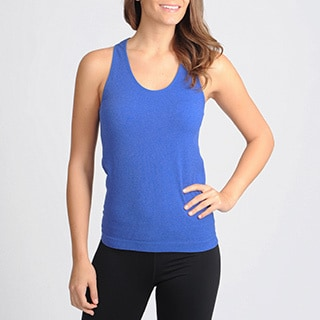 90 Degree by Reflex Women's Active Performanace Ribbed Round-Neck Tank Top