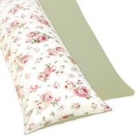 Sweet JoJo Designs Riley's Roses Full-length Reversable Double Zippered Body Pillow Case Cover