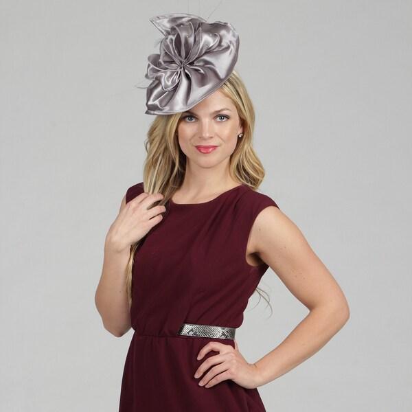 Swan Women's Grey Wool/ Felt Fascinator Hat