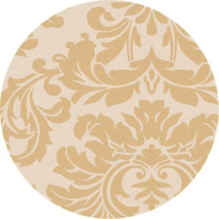 Hand-tufted Tarsus Gold Wool Rug (8' Round)