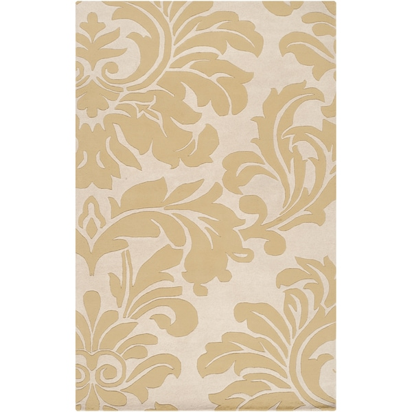 Hand-tufted Tarsus Split Pea Wool Area Rug - 5' x 8'