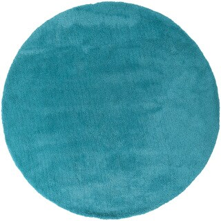 Hand-woven Taos Soft Shag Area Rug (8' Round)