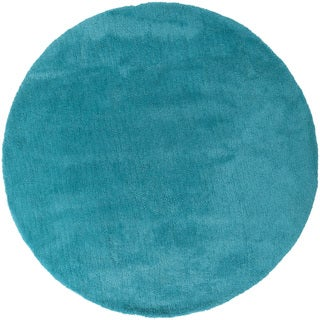 Hand-woven Taos Soft Shag Area Rug (8' Round) (2 options available)