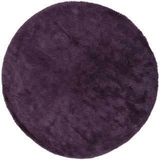 Hand-woven Socorro Soft Shag Area Rug (8' Round) (2 options available)