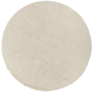 Hand-woven Portales Soft Shag Area Rug (8' Round) (3 options available)