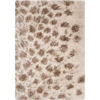 Hand-woven Goby Ivory Shag Area Rug - 5' x 8'
