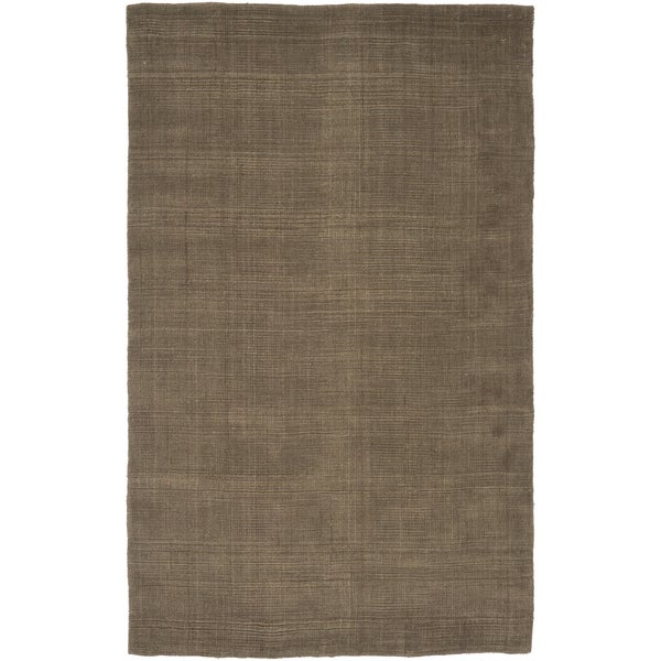 Hand-woven Armorhead Brown Natural Fiber Jute/Chenille Rug (2'6 x 4')