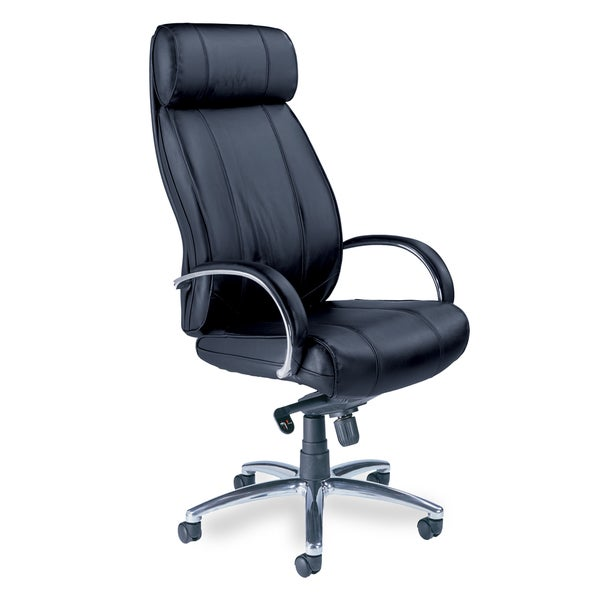 Mayline Optima High Back Leather Chair