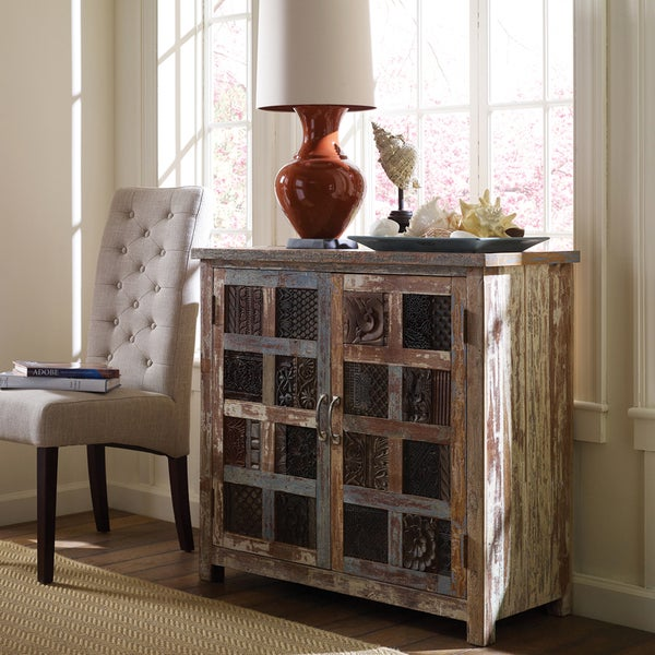 Kosas Home Vintage Paint Wooden Cabinet