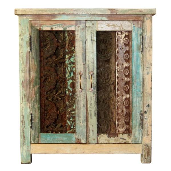 Kosas Home Vintage Carved Cabinet