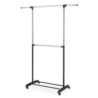 Whitmor 6021-3081 Adjustable Steel 2-rod Garment Rack