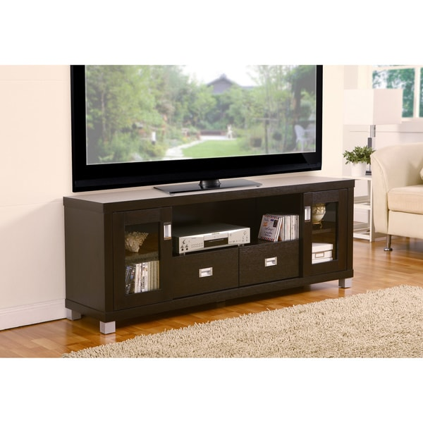 shop furniture of america bronson 60 inch media cabinet tv stand free shipping today. Black Bedroom Furniture Sets. Home Design Ideas