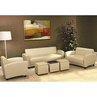 Mayline Santa Cruz Series Occasional Faux Leather Sofa