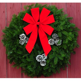 24-inch Contemporary Fresh Balsam Wreath