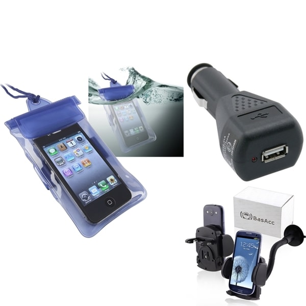 INSTEN Waterproof Bag/ Charger/ Holder for Samsung Galaxy S II/ Attain